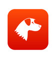 dog icon digital red vector image vector image