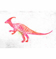 dynosaur parasaurolophus vivid vector image vector image