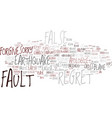 fault word cloud concept vector image vector image