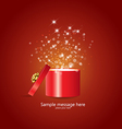 gift and confetti vector image vector image