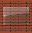 glass frame on brick wall vector image vector image
