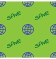 Globe and text SAVE geometric seamless pattern 23 vector image
