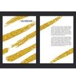 Golden Brochure Template 1 vector image