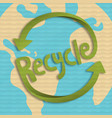 green recycle concept 3d papercut for earth care vector image