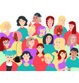 group of women flat vector image