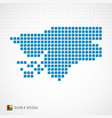 guinea bissau map and flag icon vector image