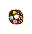 Hanukkah donut Doodle sketch draw hand Jewish vector image