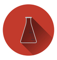 Icon of chemistry cone flask vector image vector image