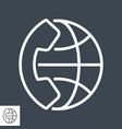 international call thin line icon vector image