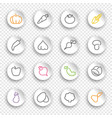 linear icons vegetables and mushrooms on white vector image