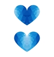 low poly ice heart vector image vector image