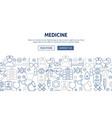 medicine banner design vector image vector image