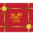 new years 2019 polygonal line light background vector image vector image