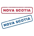 Nova Scotia Rubber Stamps vector image vector image