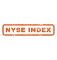 Nyse Index Rubber Stamp vector image vector image