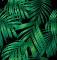 palm leaf pattern vector image vector image