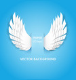 paper wings white feathers decoration heaven vector image