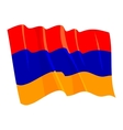 political waving flag of armenia vector image vector image