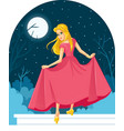 princess cinderella losing her shoe at the ball il vector image vector image