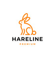 rabbit hare bunny line outline logo icon vector image vector image