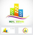 Real estate buildings skyscrapers logo vector image vector image