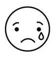 sad round emoji vector image