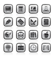 School and education icons vector image vector image