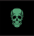 scull black background vector image vector image