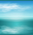 sea landscape in sunny day vector image vector image