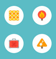 set of industry icons flat style symbols with tile vector image