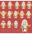 Set of Moses icons2 vector image vector image