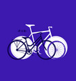 silhouette of fix bike cycling sport background vector image