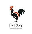 simple chicken design elements for logo vector image