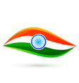simple indian flag style design vector image vector image