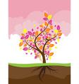 Stylized Autumn Tree2 vector image vector image