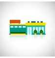 Supermarket icon flat vector image