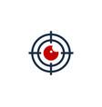target eye logo icon design vector image