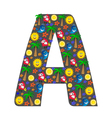 The English letter A vector image