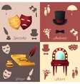Theater Concept Set vector image vector image