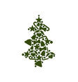 tree made of symbolic icons on vector image