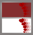 valentine s day card with roses in the shape of vector image vector image
