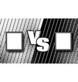 versus halftone comics design vs fight vector image
