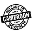 welcome to cameroon black stamp vector image vector image