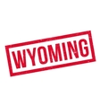 Wyoming rubber stamp vector image vector image