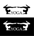 Yoga pose- Advanced level vector image vector image