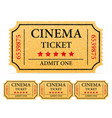 cinema ticket stock vector image