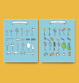 city and outdoor elements in flat and isometric vector image