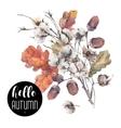 Autumn vintage cotton flower
