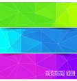 Abstract Geometric backgrounds Polygonal design vector image