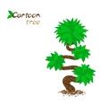Stylized cartoon tree isolated on white vector image